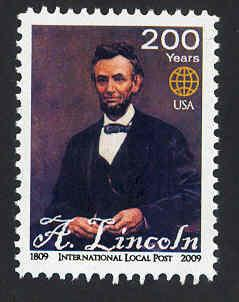 Lincoln Bicentennial - MNH - Cinderella - Local Post Ltd. Ed
