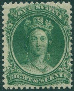 Nova Scotia 1860 SG26 8½c deep green QV MH