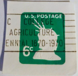 USA U551 – 6c light green 1968 used cut square