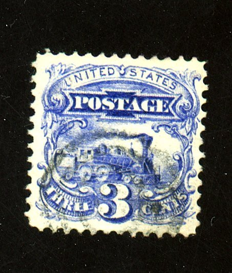 US #114 Used Blue F-VF Crease Cat$100