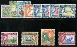 Pitcairn Islands 1957 QEII set complete very fine used. SG 18-28. Sc 20-31.