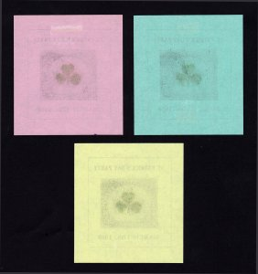 BISON PHILATELIC SOCIETY BPS LABELS (3 COLORS) ST PATRICK'S DAY PARTY 1959 MH-OG
