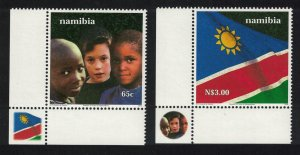 Namibia Tenth Anniversary of Independence 2v Corners SG#863-864