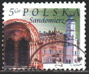 Poland. 2004. 4091. Sandomierz, town hall. USED.