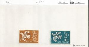 NETHERLANDS 1961 EUROPA 387-88 MOG