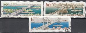 Hungary, Sc # 1619, 1621-1622, CTO-NH, 1964, Bridges