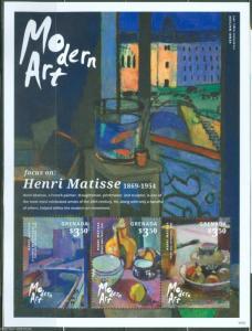 GRENADA  2014 MODERN ART HENRI MATISSE  SHEET   MINT NH