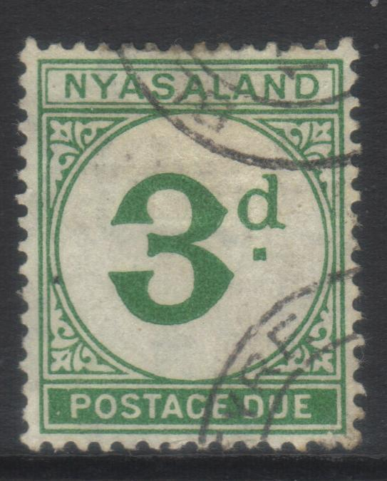 NYASALAND 1950 POSTAGE DUE SGD3 USED