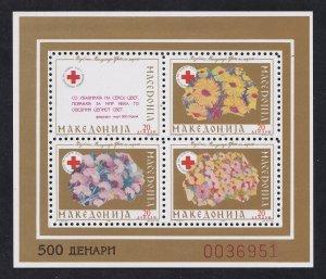 Macedonia # RA27a, Red Cross Fund, Souvenir Sheets, Mint NH, 1/2 Cat.