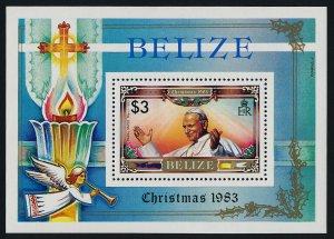 Belize 698 MNH Pope John Paul II, Christmas