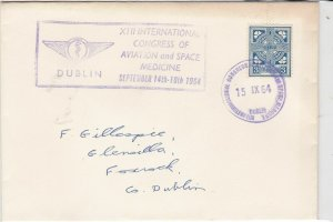 eire ireland 1964 int. congress of aviation space medicine stamps cover ref20317