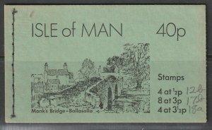 Isle of Man 1974 Sc 2b 2(17b) 18a 40p booklet