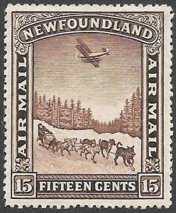 Newfoundland Airmail Scott Number C6 VF H