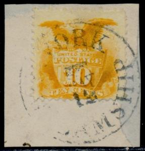 #116 VF+ USED ON A PIECE WITH NY STEAMSHIP CANCEL CV $175.00 BQ6849