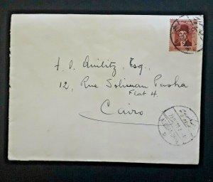 1938 Alexandria Egypt To Cairo Egypt To Attorney F Quilitz Cover