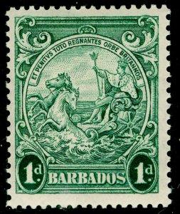 BARBADOS SG249b, 1d blue-green, LH MINT. PERF 13½x13