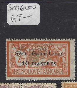 SYRIA (PP2305B)  ON FRANCE   10PI/2FR  SG 76   VFU