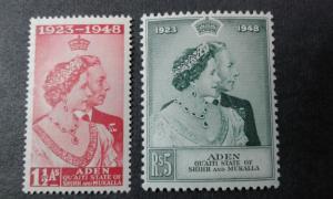 Aden Quaiti State #14-15 mint hinged
