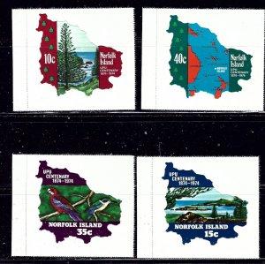 Norfolk Is 181-84 MNH 1974 UPU   (ap2079)