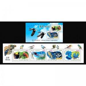 Stamps of Korea . Booklet 2010-Birds