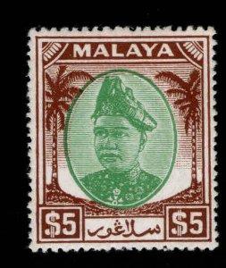 MALAYA-Selangor Scott 94 Mint Hinged, MH*