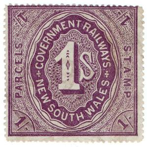 (I.B) Australia - NSW Government Railways : Parcels Stamp 1/-