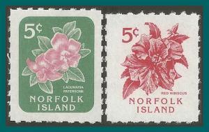 Norfolk Island 1995 Booklet, Flowers, MNH  585-586,SG600-SG601