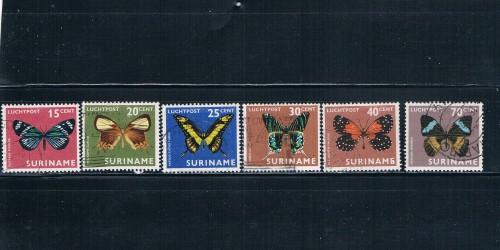 Suriname C42-45;47;53 Butterflys used (S0032)