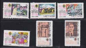 Vietnam # 1412-1416, Trade Union Anniversary, NH, 1/2 Cat