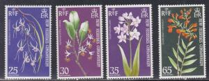 French New Hebrides # 190-193, Orchids, NH, 1/3 Cat