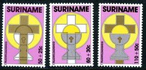 Suriname B363-B365 Easter Christian Charity  MNH mint      (Inv 001312.)