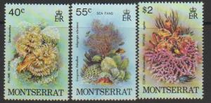 Montserrat SG 453 - 455 set of 3  MLH  -Marine Life