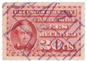 (I.B) US Revenue : Custom House Fees 20c