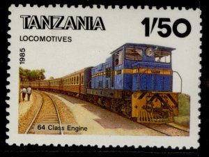 TANZANIA QEII SG445, 1s 50 1985 locomotive 64 class engine, NH MINT.