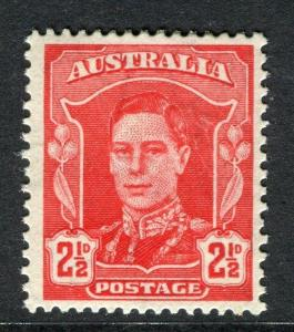 AUSTRALIA;  1942 early GVI issue Mint hinged 2.5d. value