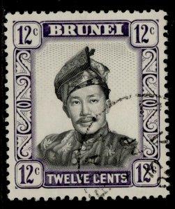 BRUNEI QEII SG125a, 12c black & violet, FINE USED.