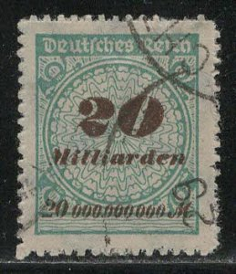 Germany Reich Scott # 308, used, exp h/s