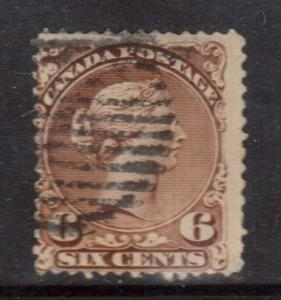 Canada #27iii Used Major Reentry **With Certificate**