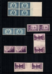 United States 771 755 754 770 MNH Cat $60.00 gutters lines