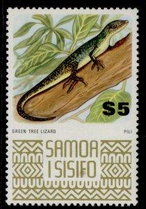 SAMOA QEII SG399c, $5 green tree lizard, M MINT.