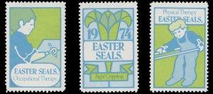 USA CINDERELLA STAMP. EASTER SEAL 1974. UNUSED. # 35