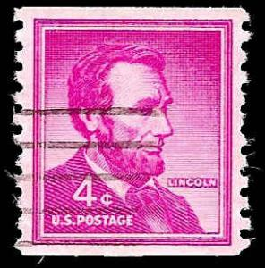# 1058as DRY PRINT SMALL HOLES USED ABRAHAM LINCOLN