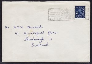 GB Wales - 1968 - Scott #10 - used on cover - Slogan cancel