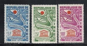 Guinea #433-5 comp mnh cv $1.40 UNESCO