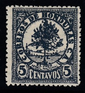 Honduras 1929 5c Blue Gray M Mint. Scott 247