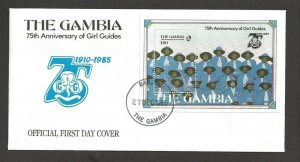 1985 Gambia Girl Guides 75th anniversary SS FDC