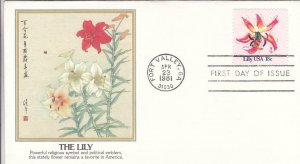 1981, The Lily, Fleetwood, FDC (D12945)