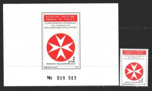 Order of Malta. 1988. 281, bl24. Coat of arms of the Order of Malta. MNH.
