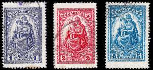 Hungary 1926-27 Sc 415-17 uvg