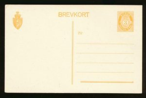 NORWAY Mi. P53 POSTAL STATIONERY POSTAL CARD 3o